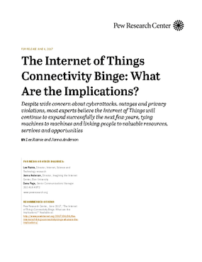 The Internet of Things Connectivity Binge: What are the Implications?