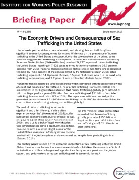 The Economic Drivers and Consequences of Sex Trafficking in the United States