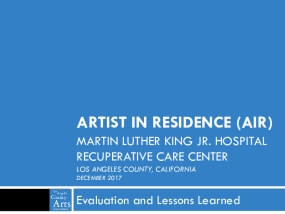 Artist in Residence at MLK Hospital: Evaluation and Lessons Learned