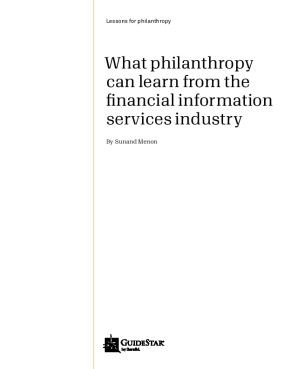 What Philanthropy Can Learn from the Financial Information Services Industry