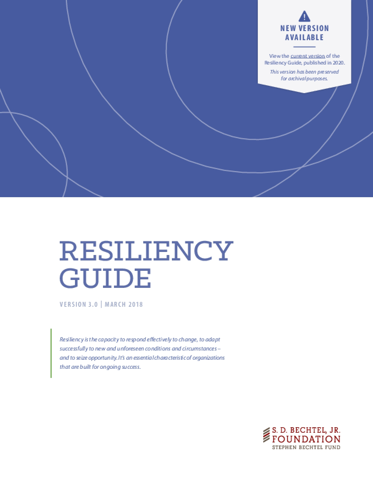 Resiliency Guide, Version 3.0