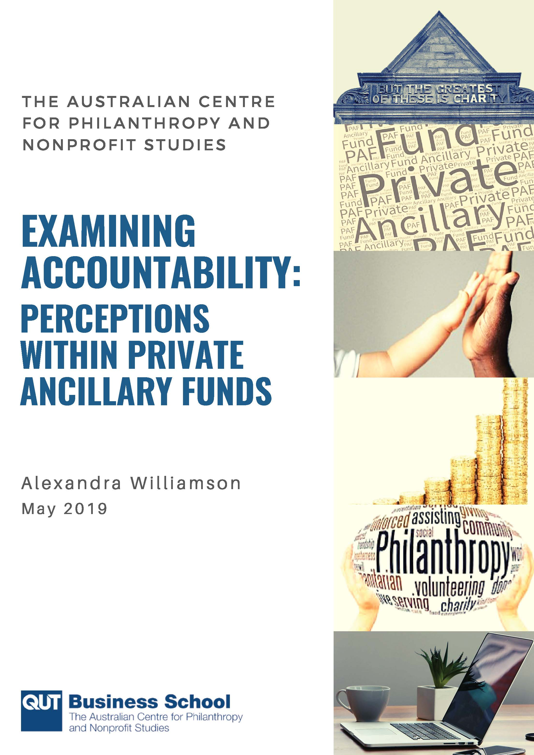 Examining accountability: Perceptions within private ancillary funds