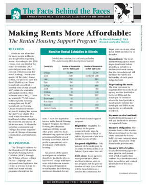 Making Rents More Affordable: The Rental Housing Support Program